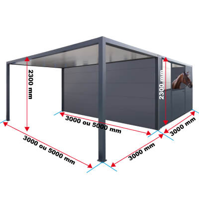 Dimensions du module carport et box chevaux priximbattable