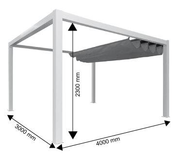 pergola toile et aluminium classique autoport e 4x3 m. Black Bedroom Furniture Sets. Home Design Ideas